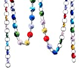 H&D 6FT Glass Crystal Rainbow Color 14mm Octagon Beads Chain Chandelier Prisms Hanging Wedding Garland