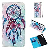 Galaxy Note 10 Case Colorful Printed Wallet Case PU Leather Magnetic Flip Cover Shock Resistant Flexible Soft TPU Protective Bumper Card Slots Kickstand Lanyard for Samsung Galaxy Note 10 Dreamcatcher