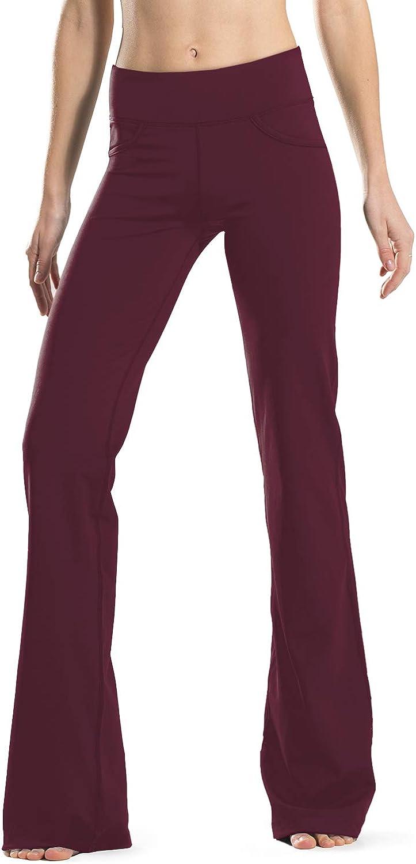 "Safort 28"" 30"" 32"" 34"" Inseam Regular Tall Bootcut Yoga Pants, 4 Pockets, UPF50+"