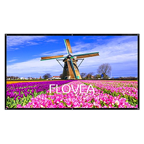 100 inch Portable Movie Screen, FLOVEA 16:9 Hom...