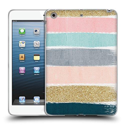 Official Charlotte Winter Zara Brush Stripes Soft Gel Case for Apple iPad mini 1 / 2 / 3