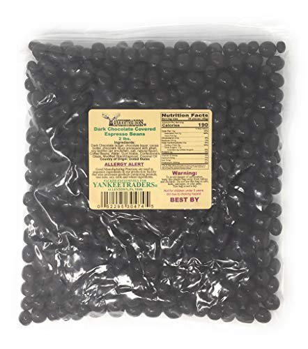YANKEETRADERS Brand, Dark Chocolate Covered Espresso Beans ~ 2 Lbs.