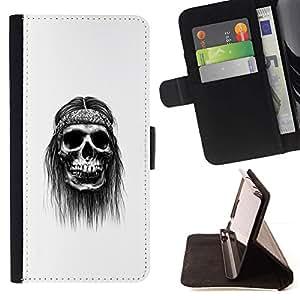 Momo Phone Case / Flip Funda de Cuero Case Cover - Hippy cráneo;;;;;;;; - Samsung Galaxy S6 Active G890A