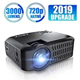 Projector, ABOX A2 720P Portable Projector, 3000 Lumens 1080P Supported LCD Video Projector