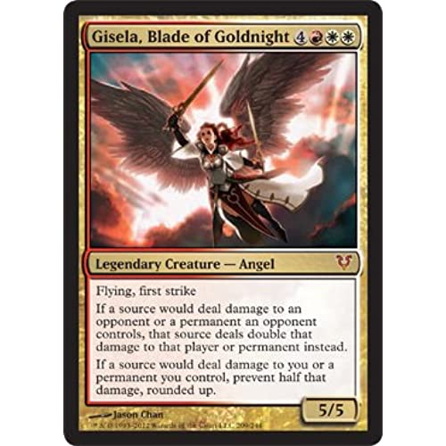 Magic the gathering legendary creatures amazon magic the gathering gisela blade of goldnight 209 avacyn restored bookmarktalkfo Image collections