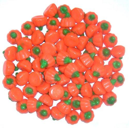 Scott's Cakes Mellocreme Pumpkins in a 8 oz. Black & White Confetti Bag