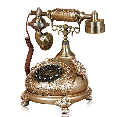 LXYFMS Antique Button Engraving Fashion Creative Home landline Wired Phone Telephone from LXYFMS