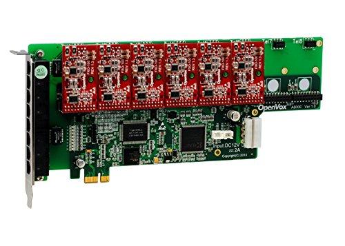 OpenVox A800E06 8 Port Analog PCI-E Base Card + 0 FXS + 6 FXO