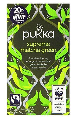 Pukka - Supreme - Te verde matcha - 30 g - Pack de 2 unida