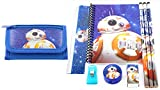 Star Wars Wallet with Stationary Set Back to School Gift Set (Blue)