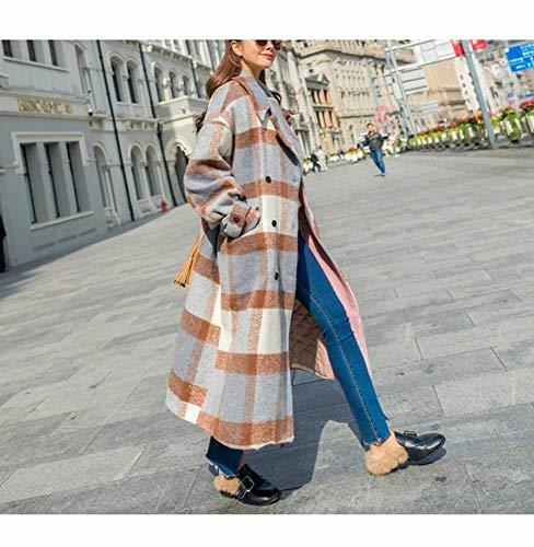 In Lunghe Giacca Femminile Lana Scozzese Invernale mostrato Cappotto In Cappotto Maniche Temperamento Come XQY Con A Lana Vintage Lungo xzRw7WqC