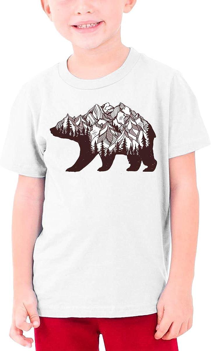QIMING SHIPPING Mountain Bear Teenage T-Shirt,Boys T-Shirts,Girls T-Shirts S-XL