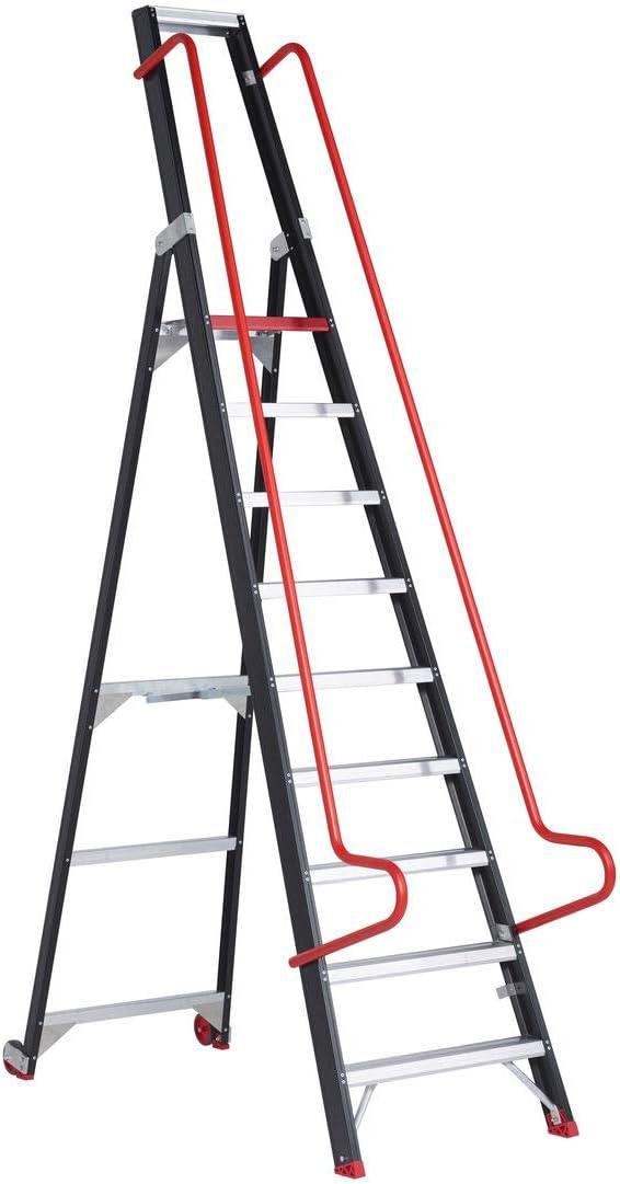 Escalera de almacén ALTREX Taurus (TME) 9 peldaños: Amazon.es: Oficina y papelería