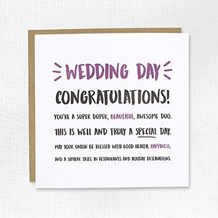 Tarjeta de felicitación de boda - matrimonio, pareja, recién ...
