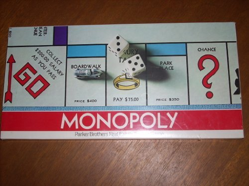 - 1975 Copyright MONOPOLY Board Game Model No. 9 by Parker Brothers