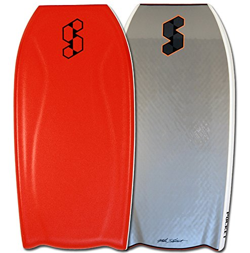 "Mike Stewart Science Pocket PE Bat Tail 42.5"" Bodyboard - BK/BK/RD (ITEM# MSPOCKETPEBT42.5-15)"