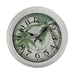 Ashton Sutton Wall Clock with Palm Nautical Dial