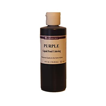 Amazon.com : LorAnn Purple Liquid Food Coloring, 4 Ounce : Grocery ...
