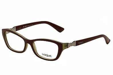 Amazon.com: Vogue VO2890 Eyeglasses-2231 Top Bordeaux/Olive ...