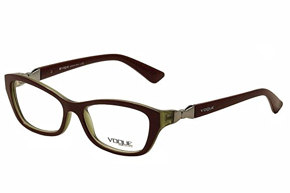 Amazon.com: Vogue VO2890 Eyeglasses-2231 Top Bordeaux/Olive ...