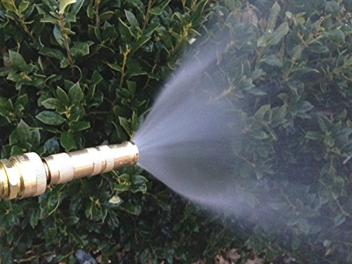High Pressure Lead-Free Brass 2 Hose Nozzles with 6 Hose Washers, 4 O-Rings and Secret Gardening Method eBook