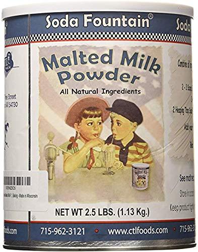 - Soda Fountain Malted Milk Powder 2.5 Lb. (Single) - Malt Powder for Ice Cream and Baking - Made in Wisconsin