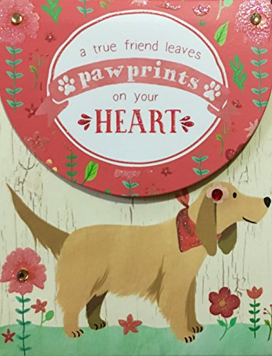 Molly & Rex Glitter Gem Embellished Mini Pocket Notepad ~ A True Friend Leaves Paw Prints on your Heart 61508