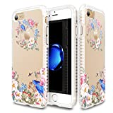 iPhone 7 Case for Girls Patchworks Level Botanic Garden Case Blue Bird - Military Grade Protective Case, Extra Protection, Impact Disperse System