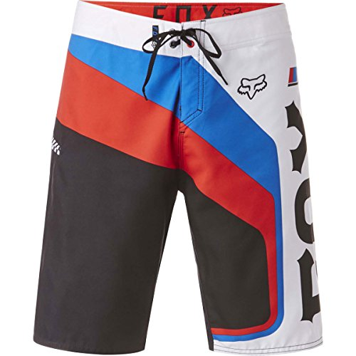 Fox Racing Mens Motion Rohr Boardshort 32 Flame Red