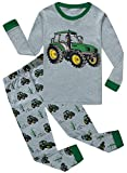 Image of IF Pajamas Baby Boys Long Sleeve Tractor Pajamas Sets 100% Cotton Sleepwears Toddlers Kids Pjs Size 6-12 Months