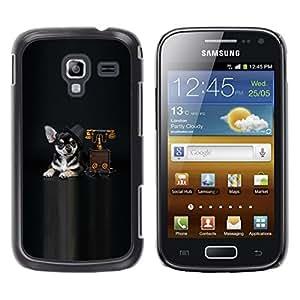 LECELL -- Funda protectora / Cubierta / Piel For Samsung Galaxy Ace 2 I8160 Ace II X S7560M -- sobaka vzglyad drug --