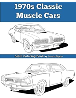 Amazon.com: Classic Car Coloring Book: Sketch Coloring Book ...