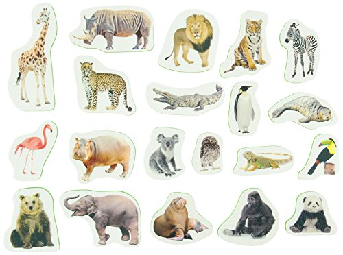 Soft Shapes Tub Stickables: zoo animals (Photographic Bath Stickers)