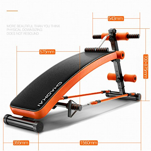 CHAOKAI Sit Up AB Bench, Adjustable Slant Board, Adjustable Workout Muti-functional ABS Abdominal Exercise Crunch Board