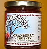 Cranberry Chutney - All Natural AWARD WINNING Chutney Made With Whole Fresh Fruits - 2 Pack (10 oz. per jar)