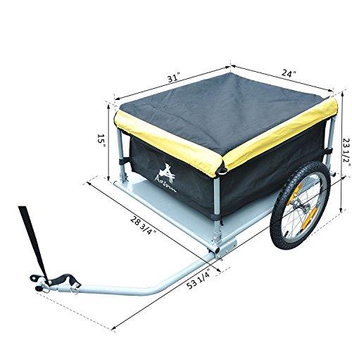 Aosom Elite Bike Cargo / Luggage Trailer - Yellow / Black by Aosom (Image #6)
