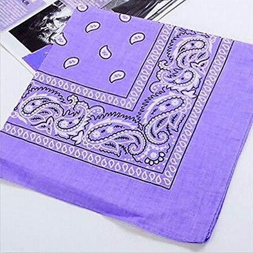 (Handkerchief Men - Color Unisex Vintage Woman Head Wrap Neck Scarf Wristband Handkerchief - Hankie Cotton Hankey Hanky - 1PCs)