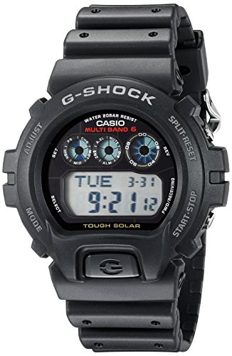 Casio Men's G-Shock Atomic Digital Sports Watch Black Resin GW6900-1