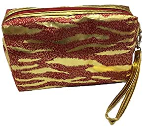 Portable Waterproof Handle leopard print makeup Pouch