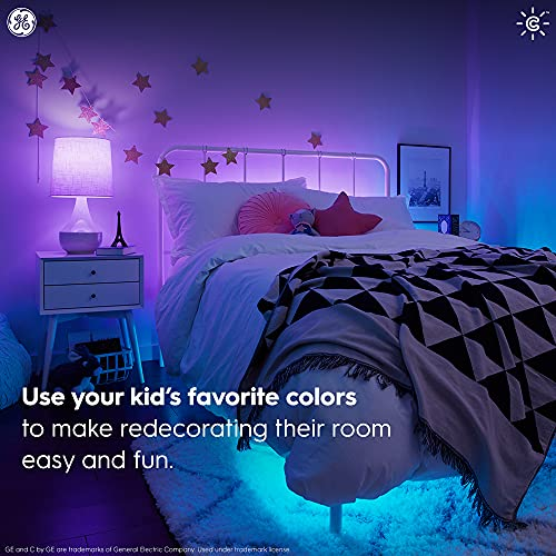 C by GE Full Color Direct Connect Smart LED Bulb (1 A19 Color Changing Light Bulb), 60W Replacement, Bluetooth/Wi-Fi Enabled, Alexa + Google Home Compatible Without Hub, 1-Pack (Packaging May Vary)
