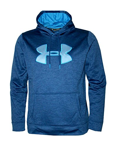 Under Armour Men's Storm Fleece Big Logo Hoodie Athletic Hooded Shirt Heather (M) (Big Logo Fleece Hoodie)
