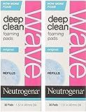 Neutrogena Wave Deep Clean Foaming Pad Refills, 30 Count - 2 Pack
