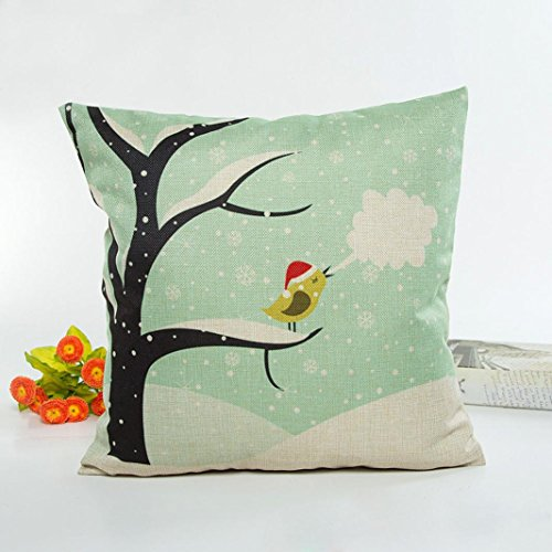 Pillow Cases,IEason Clearance Sale! Christmas Lovely Pillow Case Sofa Waist Throw Cushion Cover Home Decor (Green) for $<!--$0.99-->