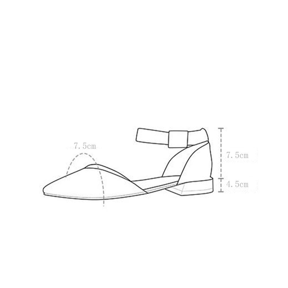 WYYY Damenschuhe High Heels Wortabzug Perle Rauh mit Flacher Flacher Flacher Mund Quadratischer Kopf Freizeitschuhe 4,5 cm (Größe   EU36 UK3.5) 8be467