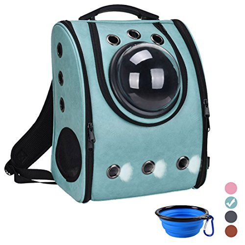 Pet Carrier Backpack Space Capsule Bag Airline Travel Approved for Cats and Dogs by Masvis(Green)