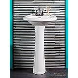 bathroom pedestal sink white