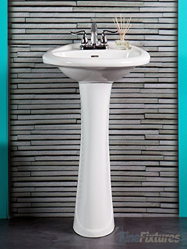 Fine Fixtures Bathroom Pedestal Sink White