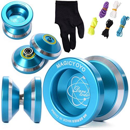 Magic YOYO N8 Alloy Aluminum Yo Yo Bearing Reel + 5 Strings + Glove TH107