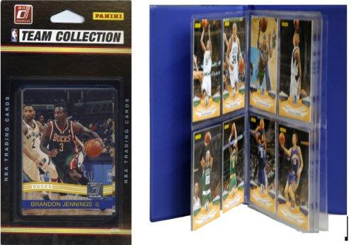 NBA Milwaukee Bucks Licensed 2010-11 Donruss Team Set Plus Storage Album by C&I Collectables