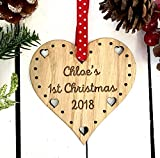 Baby first christmas 2018   babys bauble for my boy/girl - babies gifts to go with outfit/book / gift for kids